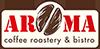 Aroma Gourmet Coffee Roastery Sticky Logo Retina